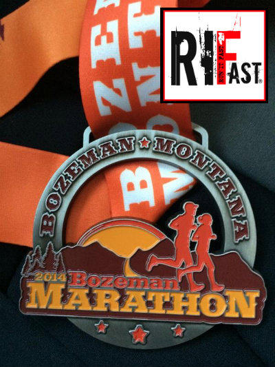 Bozeman Marathon Medal - 2014 - Run It Fast