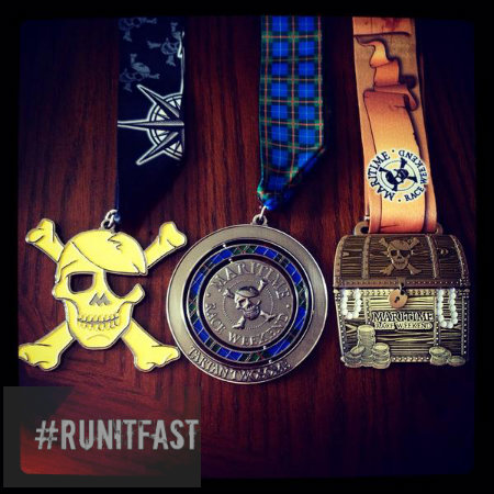 Maritime Race Weekend Medals - 2014 - Run It Fast