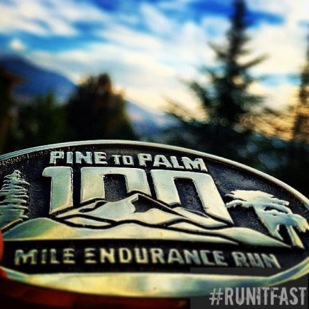 Pine to Palm 100 Mile Buckle Bell 2014 - Run It Fast