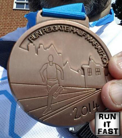 Reigate Half Marathon Medal 2014 - Run It Fast