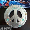 Run Woodstock Half Marathon Medal - 2014 - Run It Fast