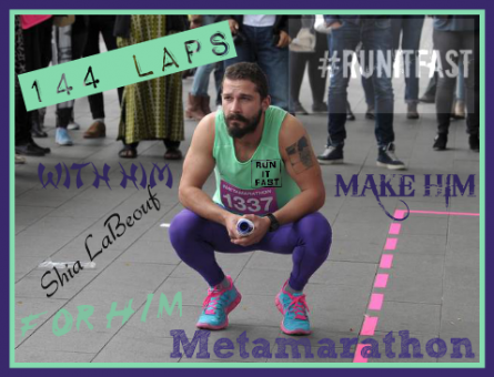 Shia LaBeouf Metamarathon Squat in Amsterdam - Run It Fast