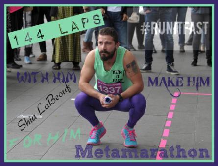 Shia LaBeouf Metamarathon Squat in Amsterdam - Run It Fast