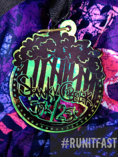 Stanky Creek 50K-25K Medal - 2014 - Run It Fast
