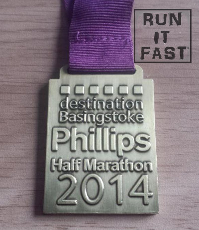 Basingstoke Half Marathon Medal 2014 - Run It Fast