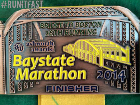 Baystate Marathon Medal 2014 - Run It Fast