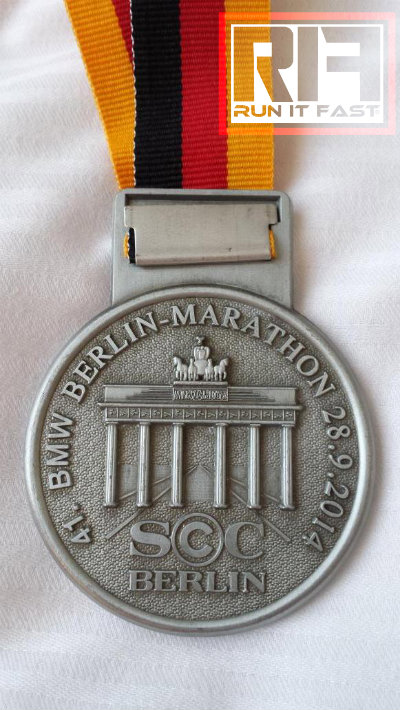 Berlin Marathon Medal Back 2014 - Run It Fast