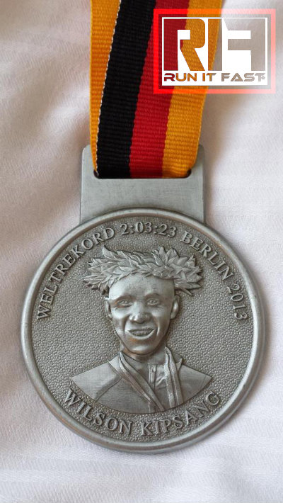 Berlin Marathon Medal Front 2014 - Run It Fast