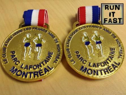 Classique du Parc La Fontaine 10K Medal 2014 - Run It Fast