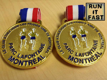 Classique du Parc La Fontaine 10K Medal 2014 - Run It Fast