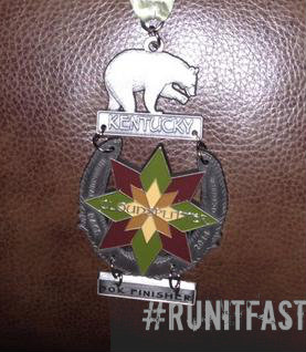 Cloudspitter 50K Medal 2014 Closeup - Run It Fast