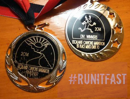Escalante Canyons Marathon Medal 2014 - Run It Fast