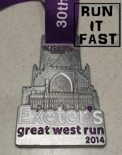 Exeter's Great West Run Medal 2014 - Run It Fast