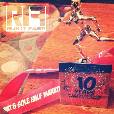 Heart & Soul Half Marathon Medal 2014 - Run It Fast
