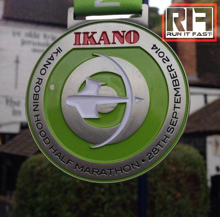Ikano Robin Hood Half Marathon Medal 2014 - Run It Fast
