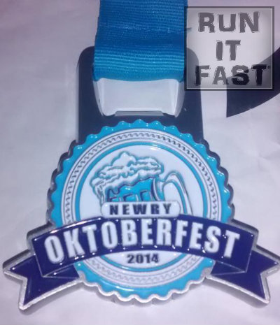Newry Oktoberfest Medal 2014 - Run It Fast