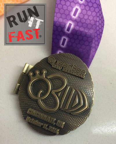 Queen Bee Half Marathon Medal 2014 - Run It Fast