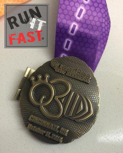Queen Bee Half Marathon Medal 2014 - Run It Fast