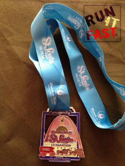 Rock 'n' Roll St Louis Half Marathon Medal 2014 - Run It Fast