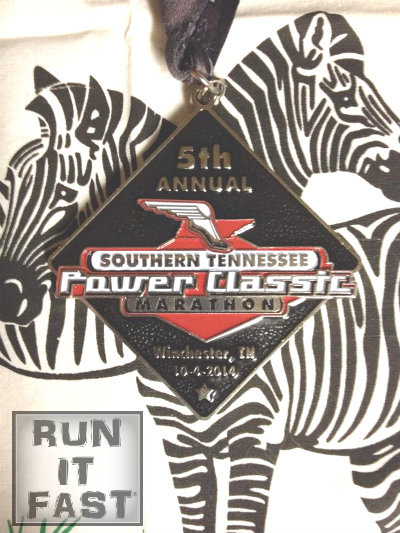 Southern Tennessee Power Classic Marathon Medal 2014 - Run It Fast