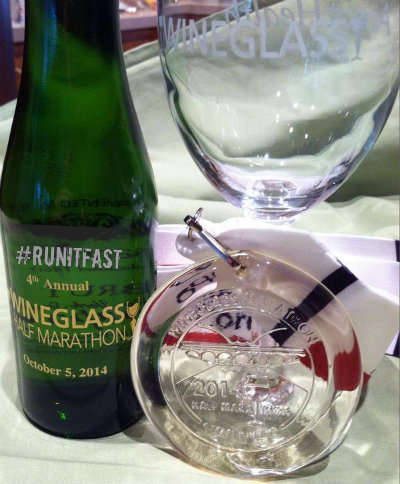 Wineglass Half Marathon Medal 2014 - Run It Fast