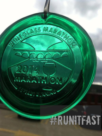 Wineglass Marathon Medal 2014 - Run It Fast