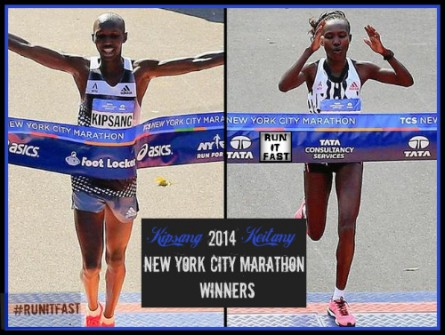 2014 New York City Marathon Winners Wilson Kipsang and Mary Keitany