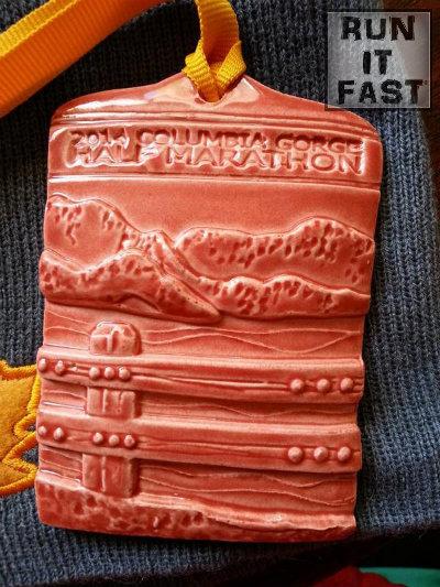 Columbia Gorge Half Marathon Medal 2014 - Run It Fast