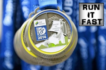 Dublin Marathon Medal 2014 - Run It Fast