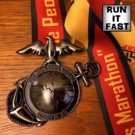 Marine Corps Marathon Medal 2014 - Run It Fast