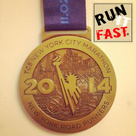 New York City Marathon Medal 2014 - Run It Fast