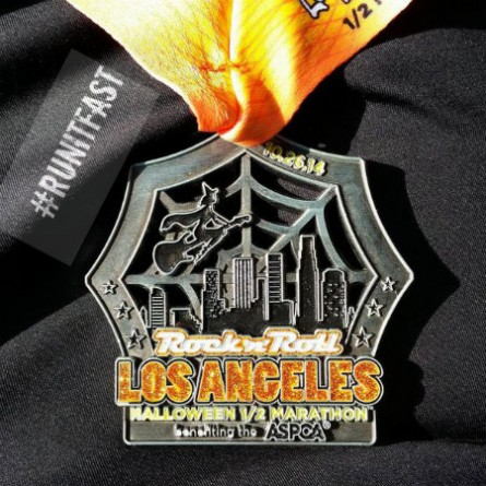 Rock n Roll Los Angeles Half Marathon Medal 2014 - Run It Fast
