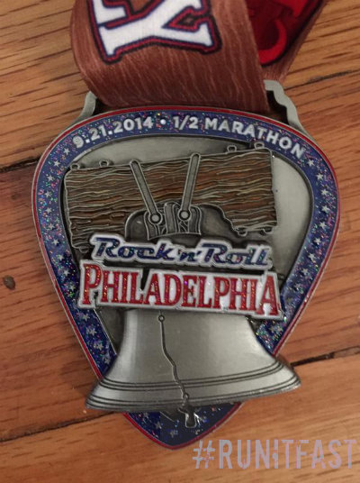Rock n Roll Philadelphia Half Marathon Medal 2014 - Run It Fast