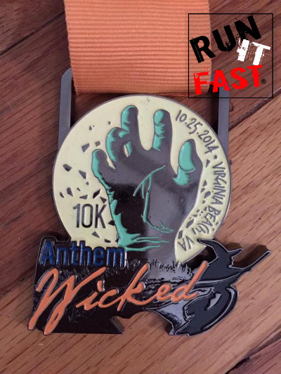 Wicked 10K Medal 2014 - Run It Fast