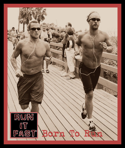 Lance Armstrong and Matthew McConaughey Running