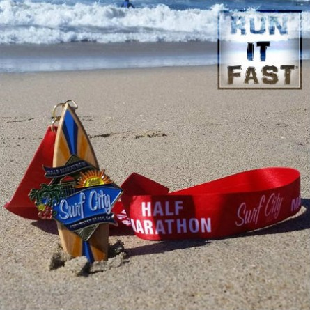 Surf City Half Marathon Medal - 2015 - Run It Fast
