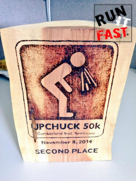 Upchuck 50K Trophy - 2015 - Run It Fast