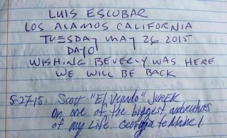 Appalachian Trail Luis Escobar Scott Jurek Log