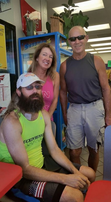 Day 3 Vol State 500K Steven Smith with Bill Baker and Diane Bolton