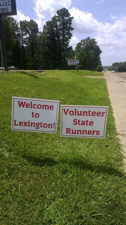Day 3 Vol State 500K Welcome to Lexington by Cathie Johnson - Run it Fast