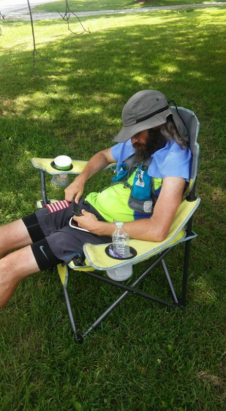 Day 5 Vol State 500K Steven Smith Sleeping