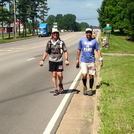 Sal Coll and Shane Tucker Mile 146 Vol State 500K - Run It Fast