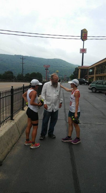 Vol State 500K Lisa Van Wolde and Marylou Corino with Lazarus Lake in Kimball 2015 - Run It Fast
