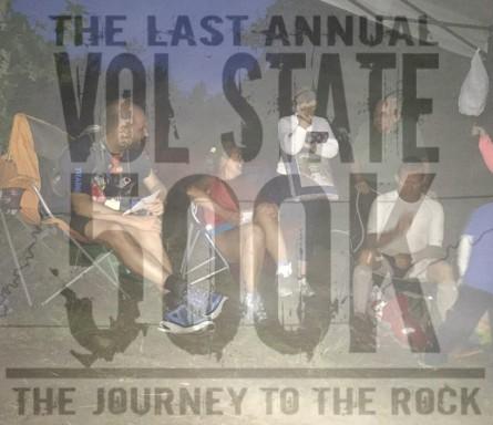 Vol State Logo Rock 500K Last Finishers Diane Taylor Jay Hamilton Ben Pennington Terrie Wurzbacher - 2015