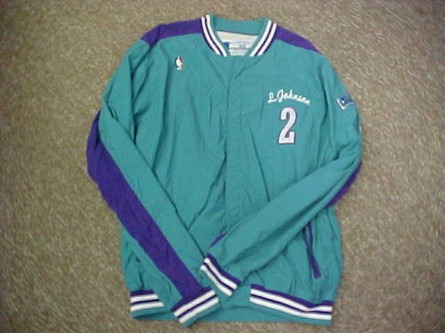 Larry Johnson 93-94 Teal Hornets Warmup Jacket