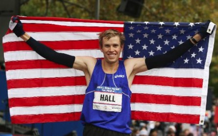 Ryan Hall USA Flag Marathoner