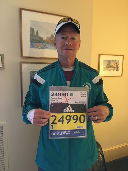 Robin Robbins Boston Marathon 2016 Bib