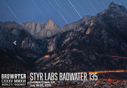 Badwater 135 - 2016 Stry Labs Badwater 135
