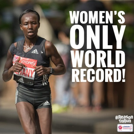 Mary Keitany London Marathon Women Only World Record - Run It Fast