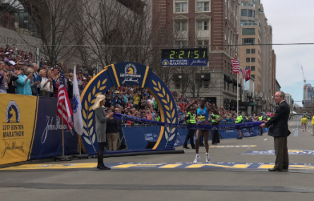 Edna Kiplagat Wins Boston Marathon 2017